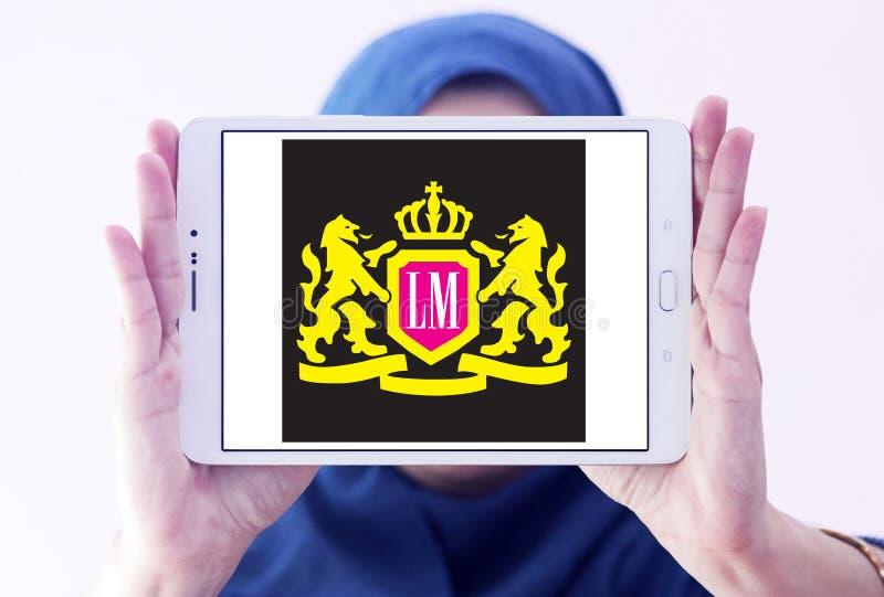 Logotipo de la compañía de los cigarrillos del LM imágenes de archivo libres de regalías