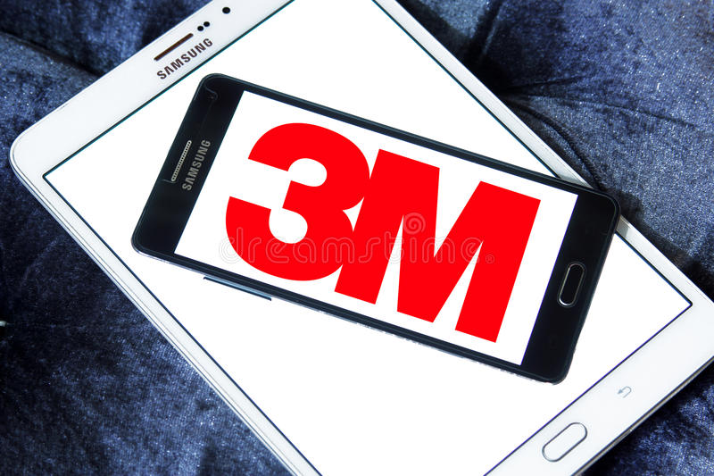 logotipo de la compañía de 3M fotografía de archivo libre de regalías