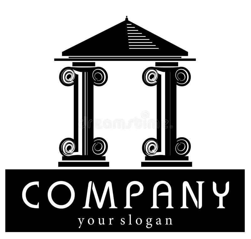Logotipo de la compañía del edificio stock de ilustración
