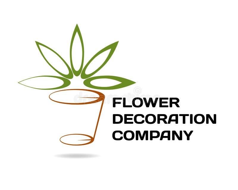 Logotipo de la compañía del florista/de la decoración stock de ilustración