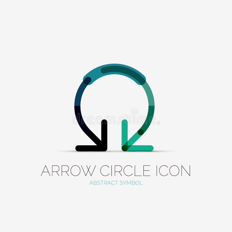Logotipo de la compañía del icono del círculo de la flecha, concepto del negocio ilustración del vector