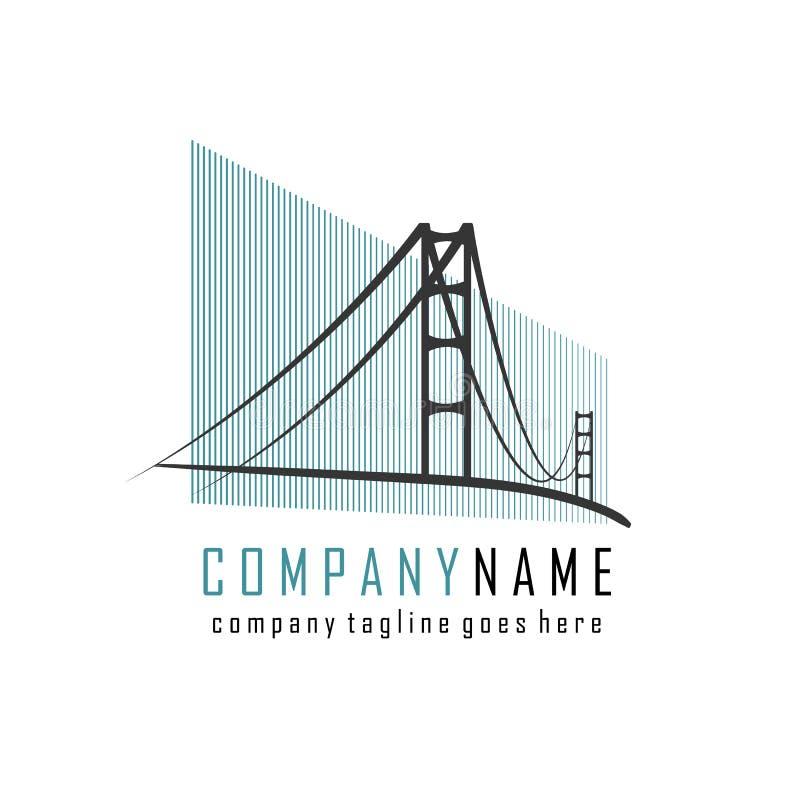 Logotipo de la compañía del puente stock de ilustración