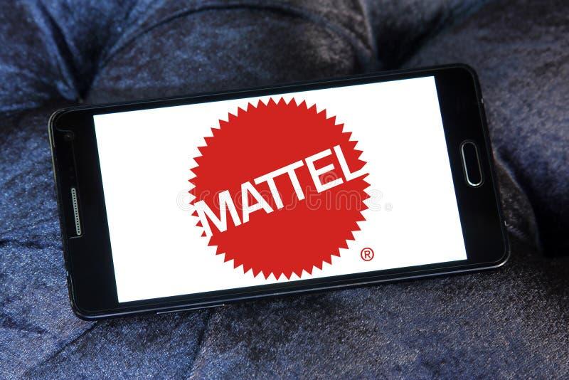 Logotipo de la compañía de fabricación del juguete de Mattel imagenes de archivo