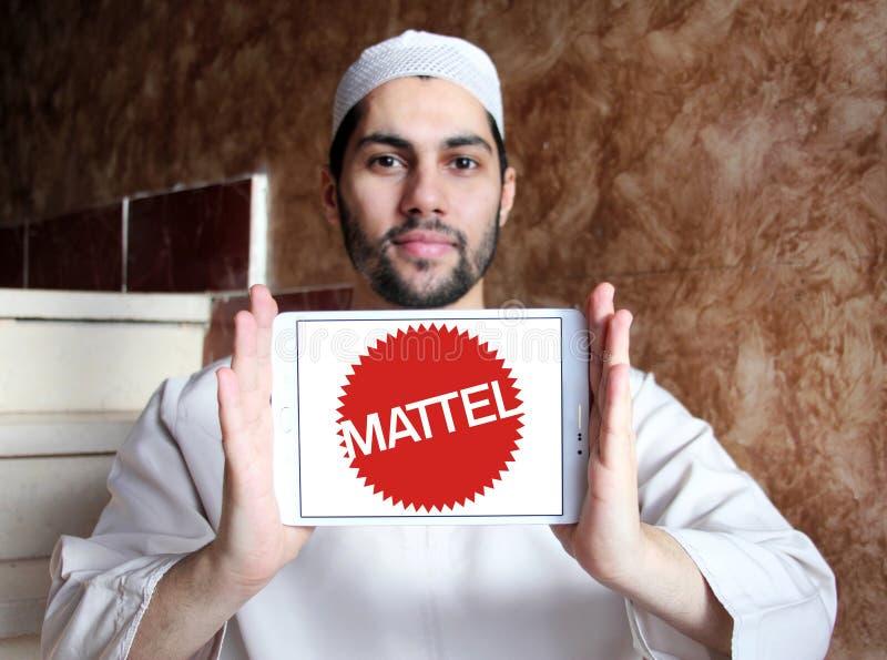 Logotipo de la compañía de fabricación del juguete de Mattel fotografía de archivo libre de regalías