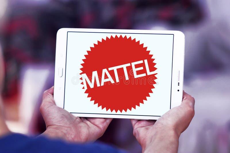 Logotipo de la compañía de fabricación del juguete de Mattel imágenes de archivo libres de regalías