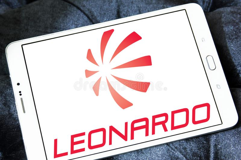 Logotipo de la compañía de Leonardo fotografía de archivo