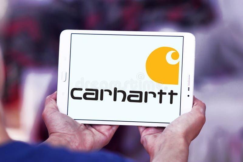 Logotipo de la compañía de la ropa de Carhartt imagen de archivo