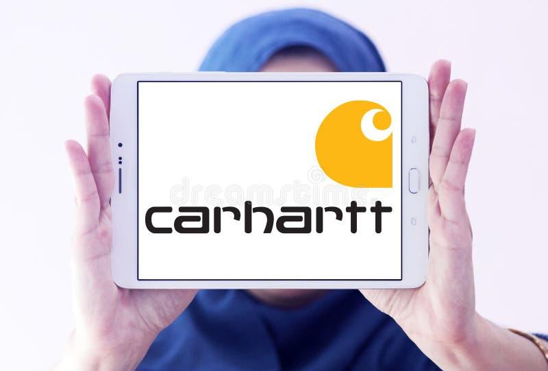 Logotipo de la compañía de la ropa de Carhartt imagenes de archivo
