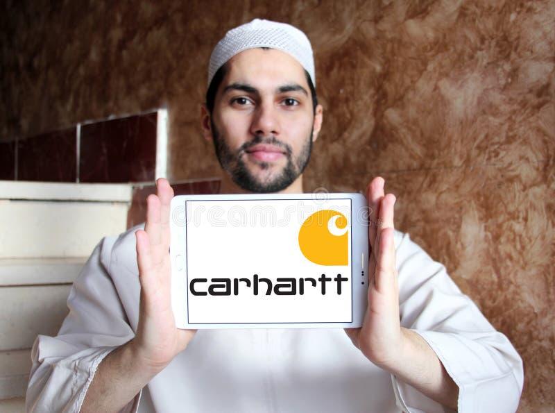 Logotipo de la compañía de la ropa de Carhartt foto de archivo