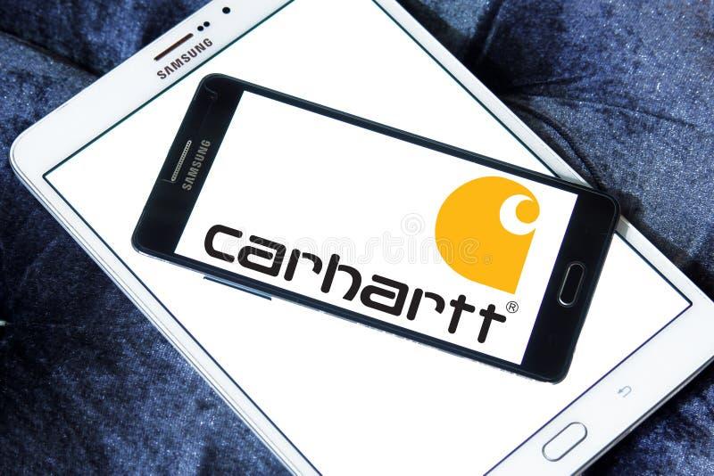 Logotipo de la compañía de la ropa de Carhartt imagen de archivo libre de regalías