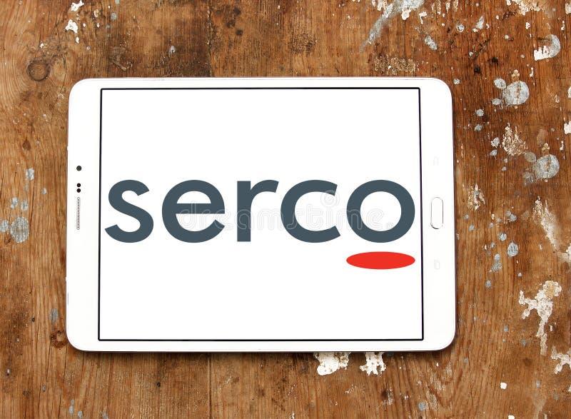 Logotipo de la compañía de servicios públicos de Serco fotografía de archivo libre de regalías