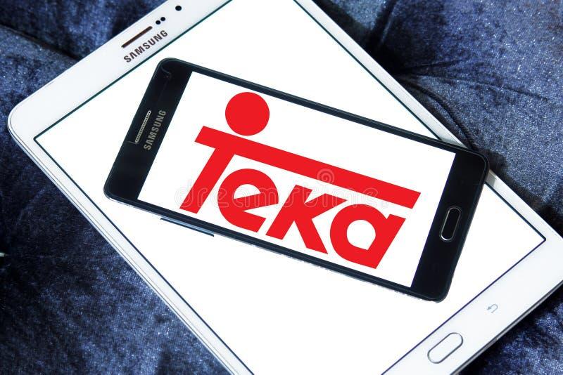 Logotipo de la compañía de Teka fotos de archivo