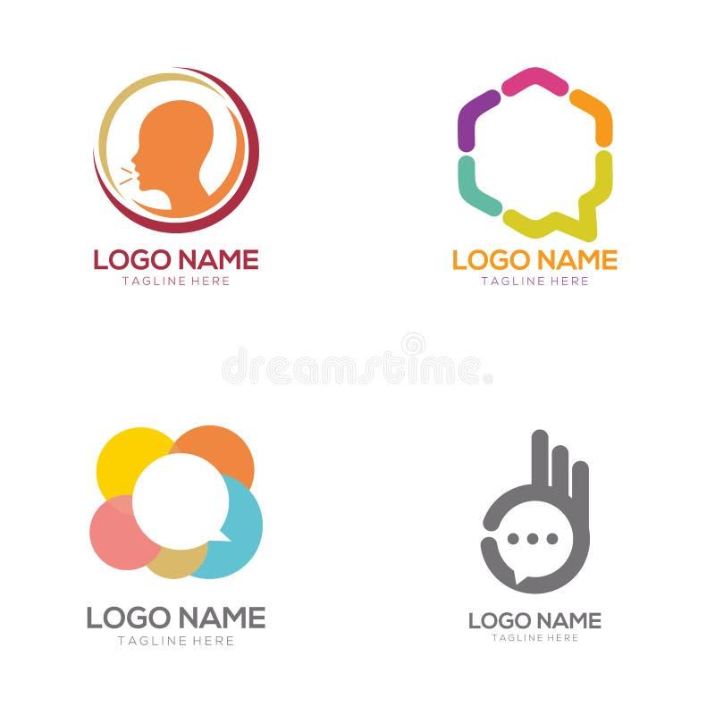Logotipo de la comunicación y diseño del icono ilustración del vector