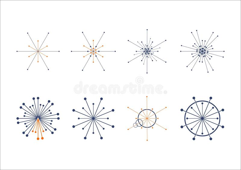 Logotipo de la conexión del punto del círculo libre illustration