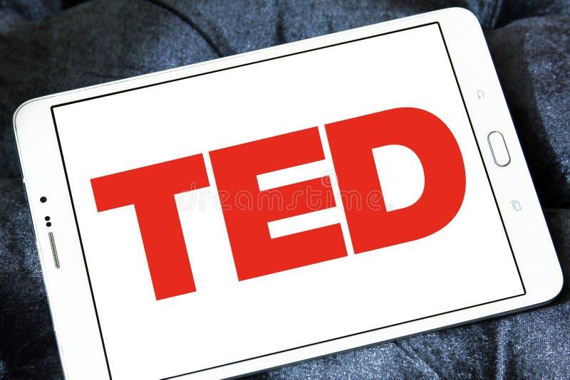 Logotipo de la conferencia de TED fotos de archivo libres de regalías