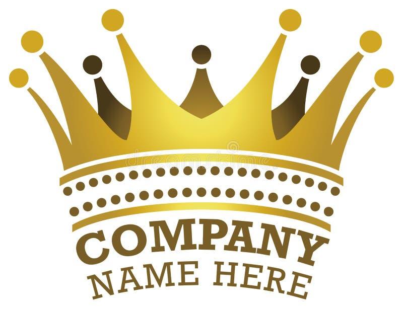 Logotipo de la corona stock de ilustración