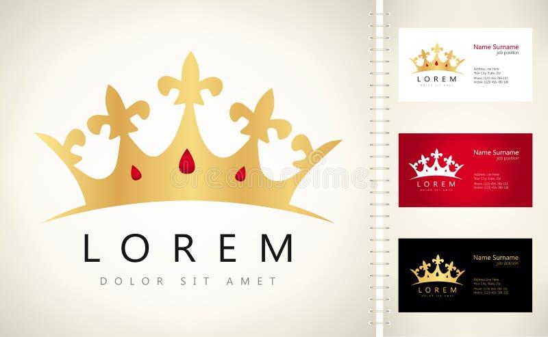 Logotipo de la corona ilustración del vector