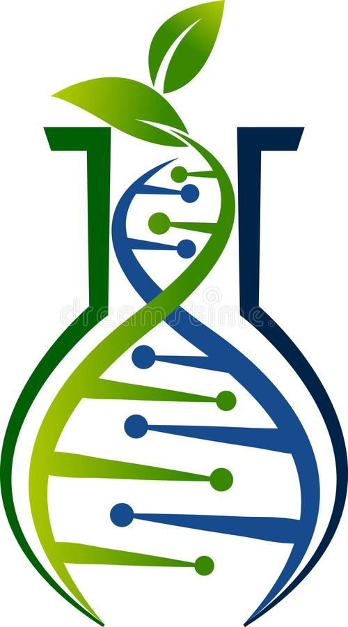 Logotipo de la DNA del ambiente libre illustration