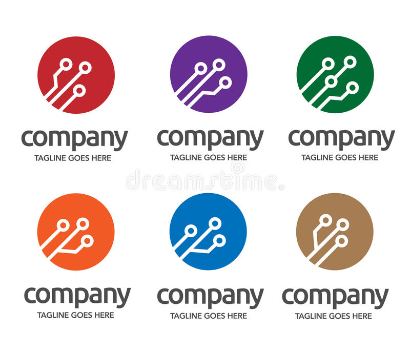 Logotipo de la electrónica de Digitaces ilustración del vector