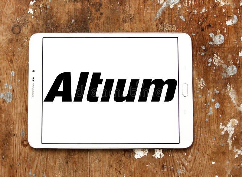 Logotipo de la empresa de informática de Altium fotos de archivo libres de regalías