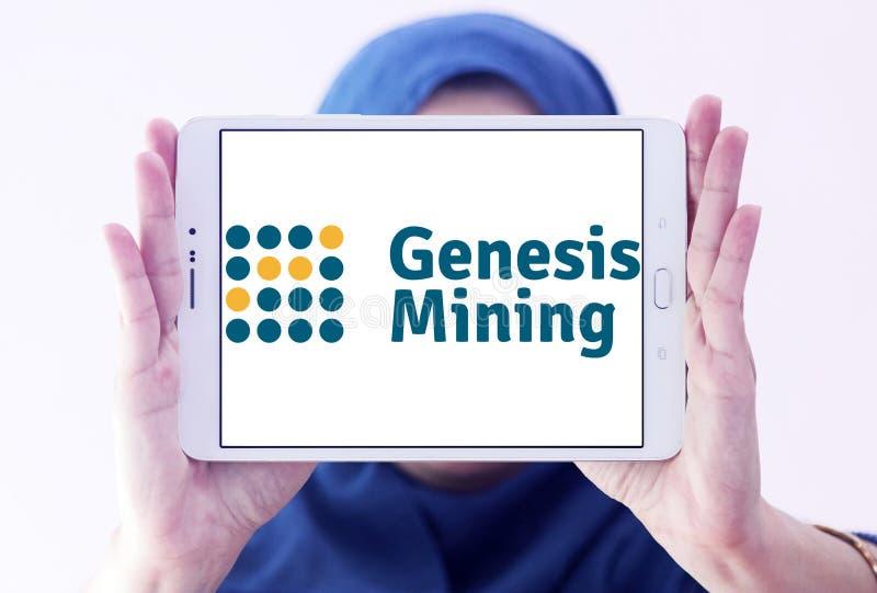 Logotipo de la empresa minera de la nube de Genesis Mining foto de archivo