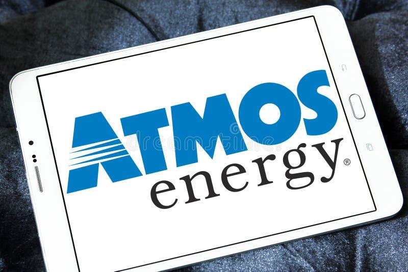Logotipo de la energía de la atmósfera fotos de archivo
