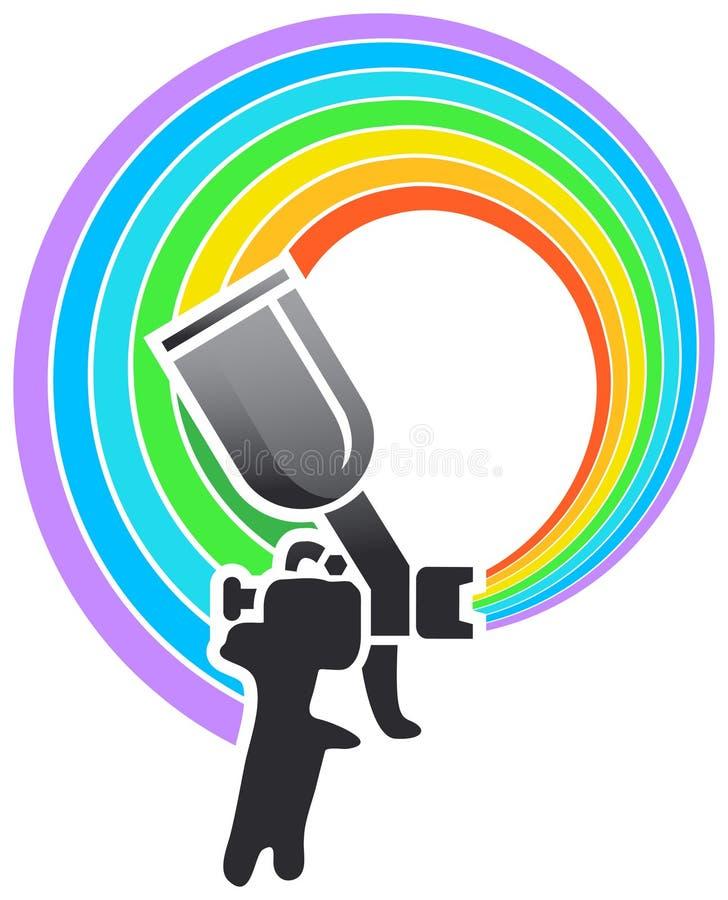 Logotipo de la escopeta de aire comprimido stock de ilustración