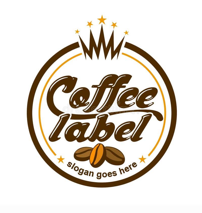 Logotipo de la escritura de la etiqueta del café libre illustration