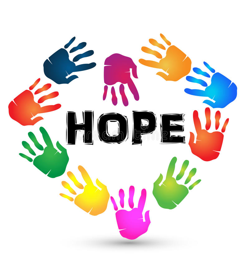 Logotipo de la esperanza de las manos libre illustration
