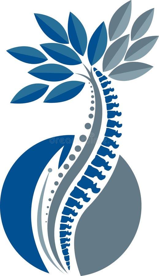 Logotipo de la espina dorsal del árbol stock de ilustración