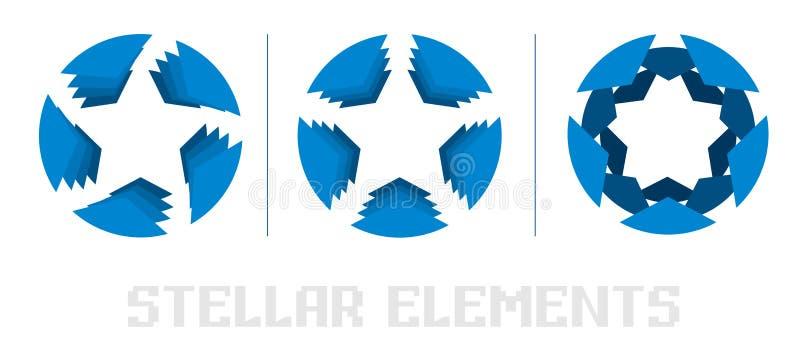 Logotipo de la estrella azul libre illustration