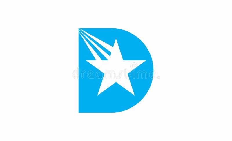 Logotipo de la estrella de la letra de D ilustración del vector