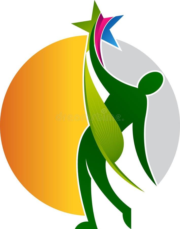 Logotipo de la estrella del granjero stock de ilustración