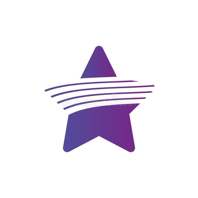 Logotipo de la estrella Símbolo abstracto mínimo Diseño geométrico Líneas como elemento de la estrella Ilustración del vector ais libre illustration