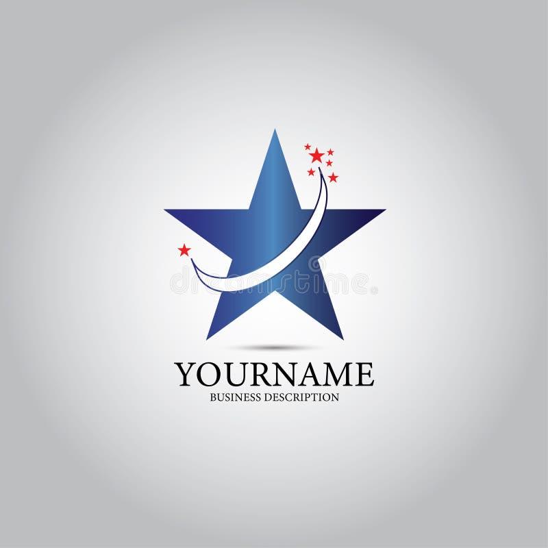 Logotipo de la estrella y de las estrellas stock de ilustración