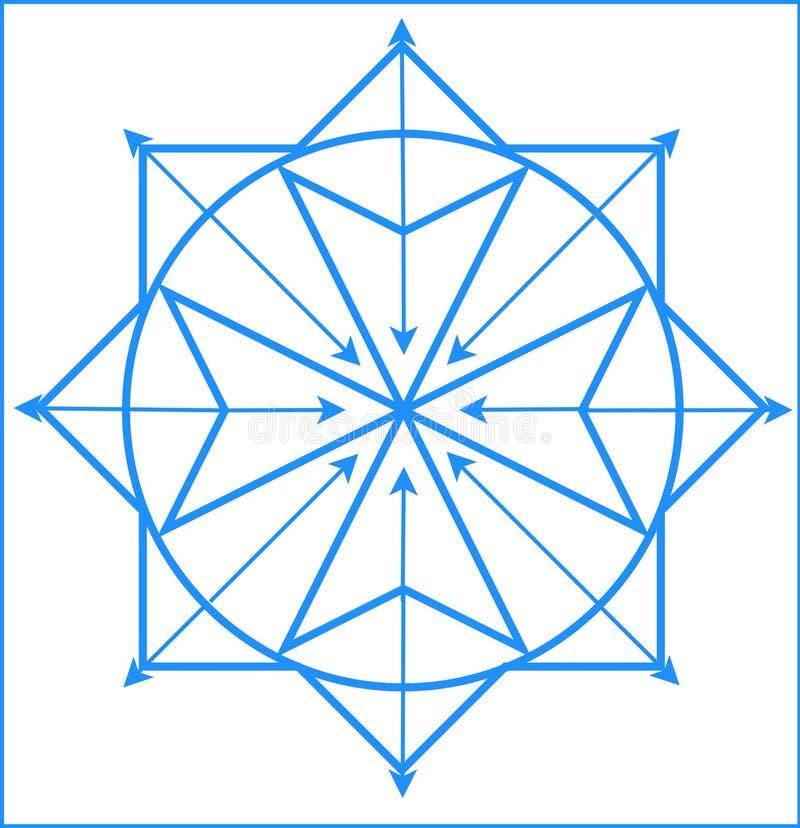 Logotipo de la física cuántica stock de ilustración