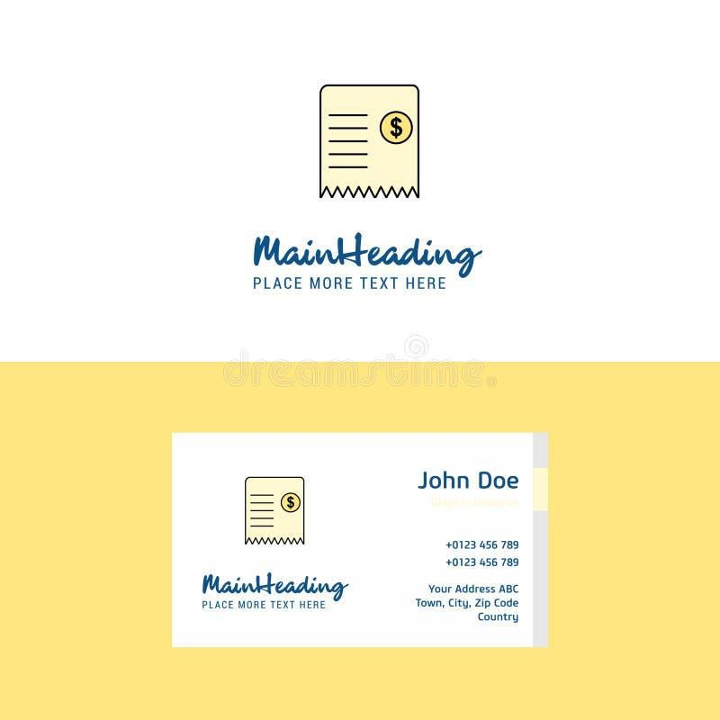 Logotipo de la factura y plantilla planos de la tarjeta de visita Concepto Logo Design de Busienss libre illustration