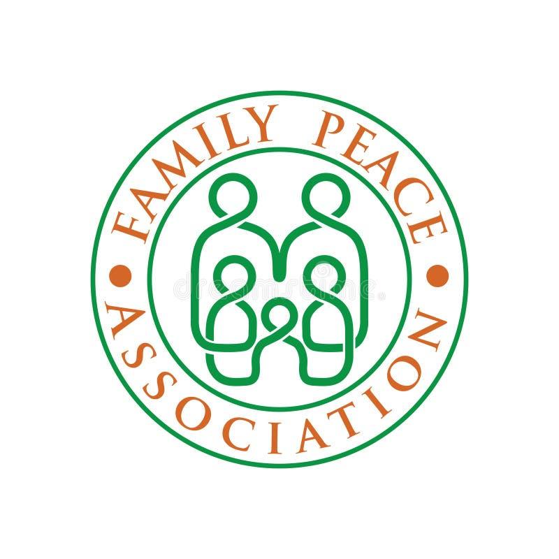 Logotipo de la familia con la línea vector ilustración del vector