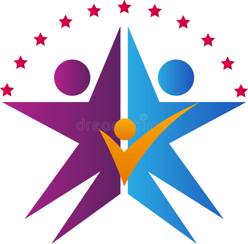 Logotipo de la familia de la estrella libre illustration