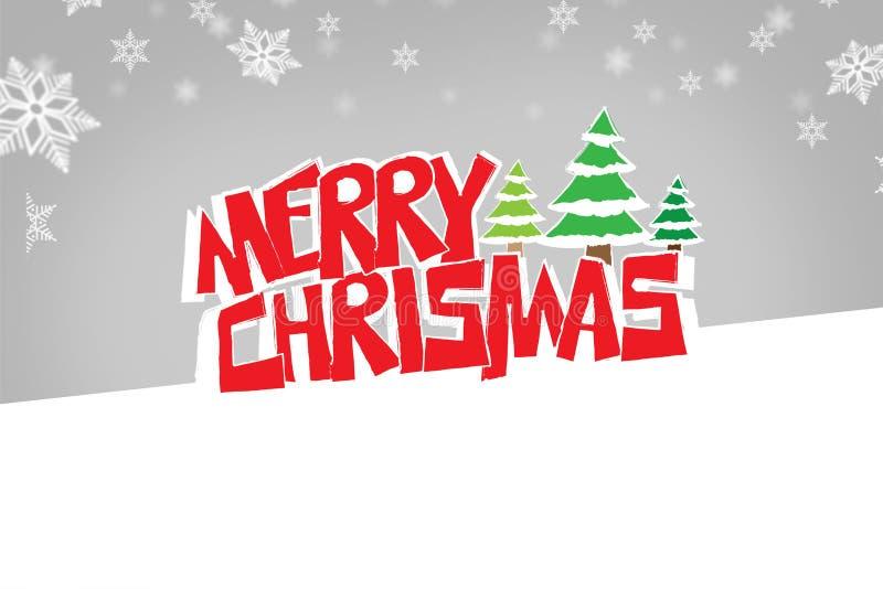 Logotipo de la Feliz Navidad ilustración del vector