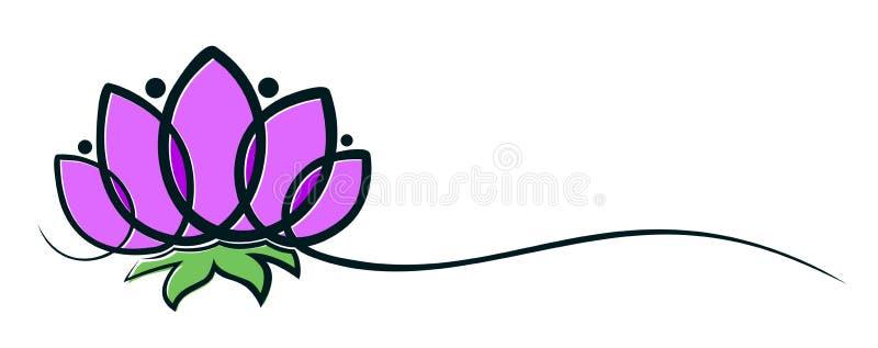 Logotipo de la flor ilustración del vector
