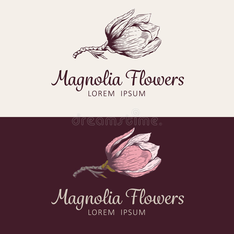 Logotipo de la flor de la magnolia libre illustration