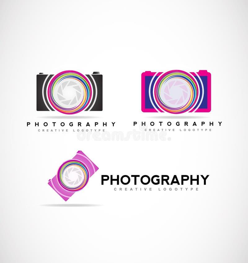 Logotipo de la fotografía de la cámara libre illustration