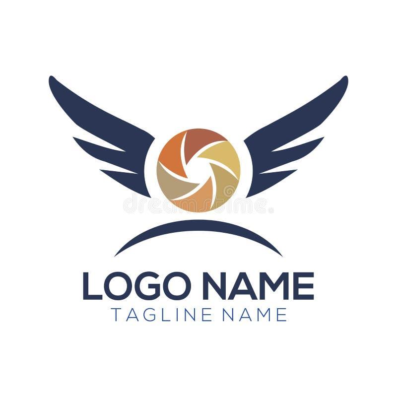 Logotipo de la fotografía y diseño del icono libre illustration