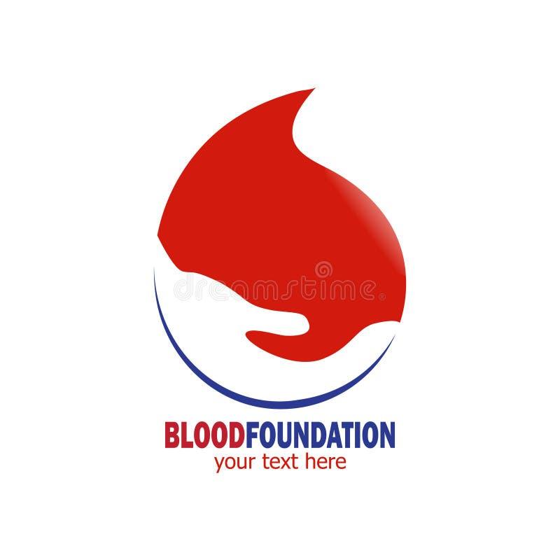 Logotipo de la fundación de la sangre stock de ilustración