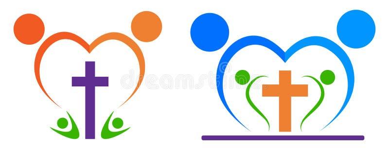 Logotipo de la gente de la religión stock de ilustración
