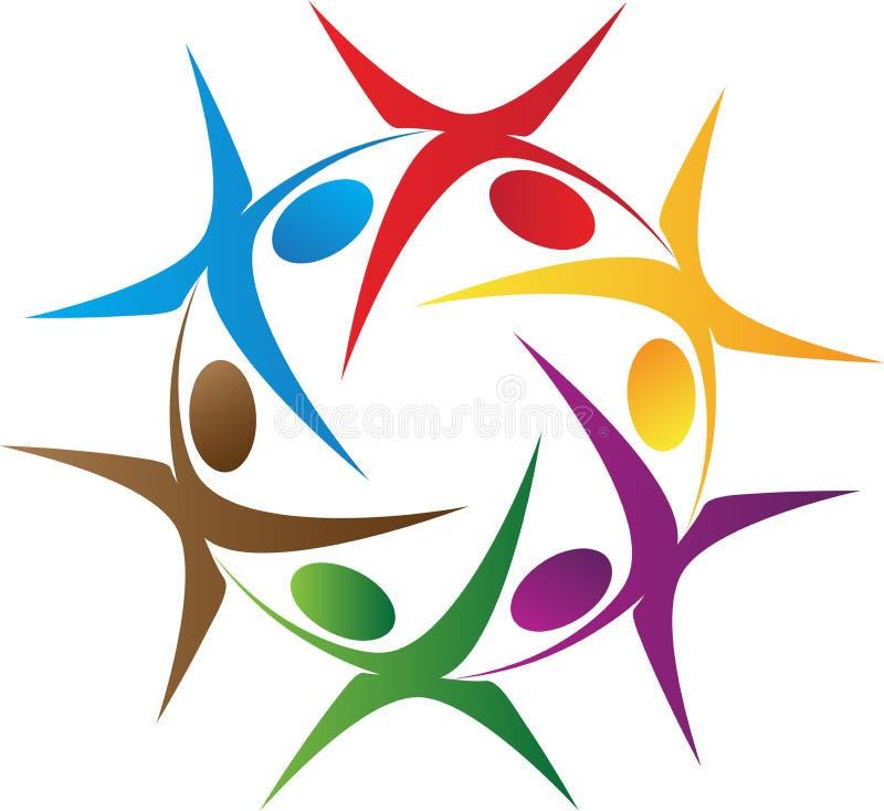 Logotipo de la gente de la rotación libre illustration