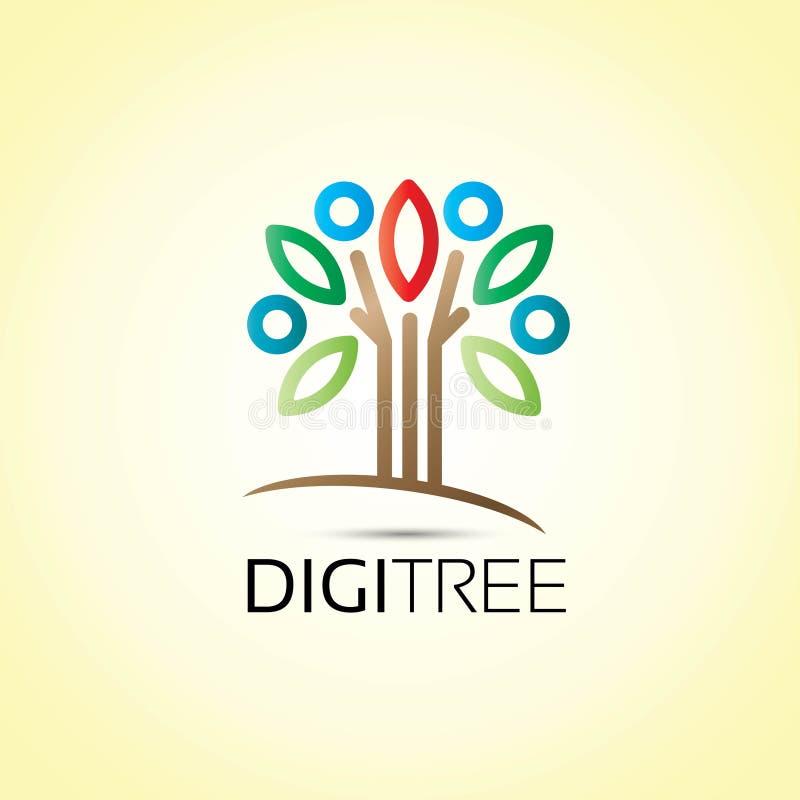 Logotipo de la gente del árbol stock de ilustración