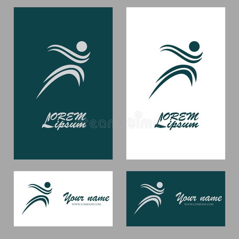 Logotipo de la gente del remolino ilustración del vector