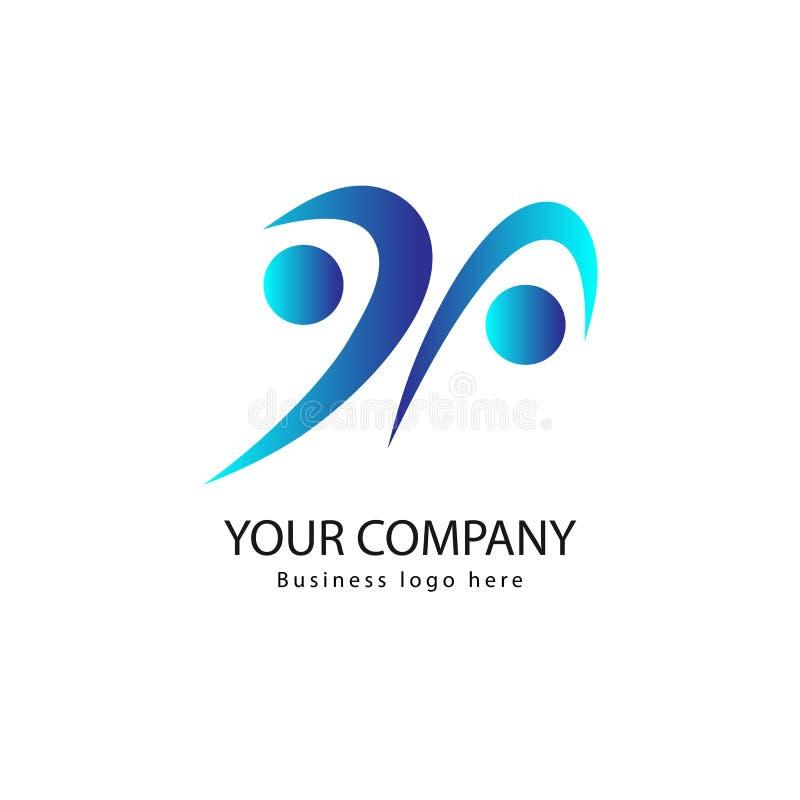 Logotipo de la gente e icono activos del vector stock de ilustración
